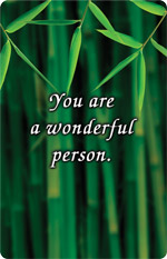 You are a wonderful person