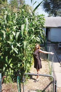Jill with corn