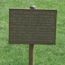 Grave marker of King Arthur and Guinevere