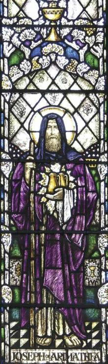 Joseph of Arimathea, stained glass inside St. John's Church
